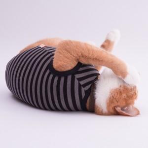 猫に優しい猫服 キャットウォームタンク モノトーンボーダー